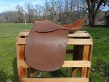 """USED 20.5"""" LEATHER ENGLISH HORSE DRESSAGE ALL PURPOSE CLOSE CONTACT EVENT SADDLE"""