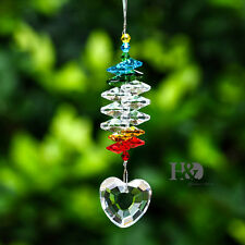 Crystal Clear Heart Designs Ornament Window Suncatcher Prism Pendant for Healing