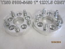 (2) 5X100-5X4.5 (5x114.3) Wheel Spacer Adapters CB 57mm | 12X1.5 | 1''