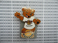 Hard Rock Cafe Fukuoka Japan 2009 - Classic white T shirt Series Bear Pin
