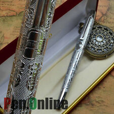 HERO 103 SILVER FINE NIB FOUNTAIN PEN FLOWER ENGRAVING WITHOUT ORIGINAL BOX