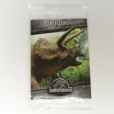 Jurassic World Triceratops Pizza Promo Collectible Trading Card Park Dinosaur