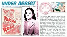 """""""COVERSCAPE computer designed 70th anniversary """"Tokyo Rose"""" arrest event cover"""