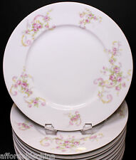 Guerin Limoges Set of 12 Pretty Pink Roses Dinner Plates Plate