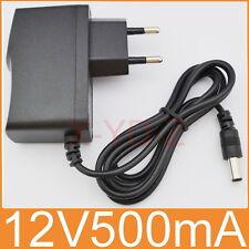 AC 100V-240V Adapter DC 12V 500mA Switching power supply 0.5A EU 5.5mm x 2.1mm
