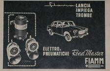 Advert Pubblicità 1961 LANCIA FLAVIA - TROMBE FIAMM ROAD MASTER