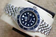 Tag Heuer 980.615 Mens Womens Midsize 1000 Series Professional SS Blue Watch EUC