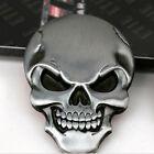 1 Pcs Car Auto 3D Skull Demon Bone Logo Metal Black Emblem Badge Decal Sticker