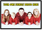 YOUR FAMILY PHOTO ON A PERSONALISED SOUVENIR FRIDGE MAGNET - GIFT / NEW