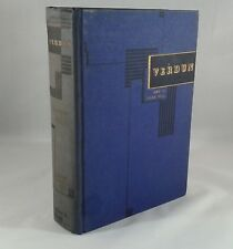 """Verdun"" by Jules Romains. Hardcover First Edition Copyright 1939 WWI History"