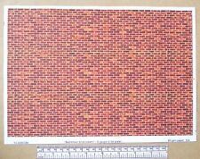 "G gauge (1:24 scale) "" Red-brown brick(clean) ""  paper - A4 sheet"