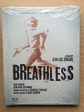 Jean Paul Belmondo BREATHLESS ~ 1959 Godard Classic | UK Blu-ray Digibook