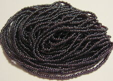 11/0 HANK DARK GRAPE RED LUSTER TRANSPARENT CZECH GLASS SEED BEADS