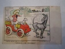 "1903 ""LOOKING FOR TROUBLE"" POSTCARD - R.F. OUTCAULT - UNUSED -  TUB Q"