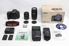 Canon EOS 5Ds 50.6 MP Digital SLR Camera MINT IN BOX + TWO Lenses FLASH 32GB