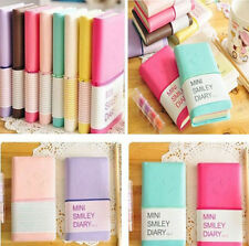 Mini Diary Notebook Writing Paper Journal Travel Pocket Planner Notepad  1Pcs WK