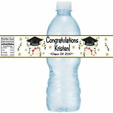 12 Class Of 2017 Graduation Party Water Bottle Sticker Wrappers Diploma Graduate