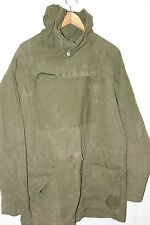 VTG BRITISH OLIVE COTTON ARMY WINDPROOF MOUNTAIN SMOCK PARKA CADET JACKET BG SIZ
