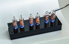 Nixie Tube Clock with 6x IN-14 unique vintage steampunk watch