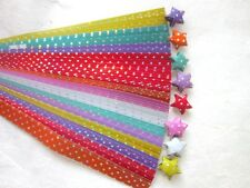 140 STRIPS ORIGAMI PAPER STAR FOLDING KIT LUCKY WISH STAR MULTI COLOR 7mm