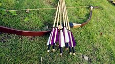 Chinese Mogulian bow  set Archery Longbow Recurve Bow 20-60lb +6 wooden arrows