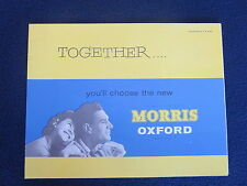 MORRIS OXFORD Series V 1959 Car Sales Auto Brochure Excellent Fold Out Poster