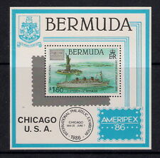 Bermuda stamps - 1986 Ameripex '86 Int'l Stamp Exhibition Chicago, MS533, MNH