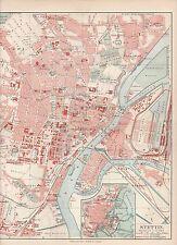 Stettin Szczecin Altstadt Torney STADTPLAN von 1905 Westend Galgwiese Hafen