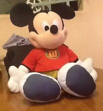 "Disney FP MICKEY MOUSE Huge 24"" Fisher Price Stuffed Plush Red Shirt Green Pants"