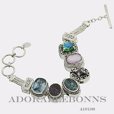 Authentic Lori Bonn Silver The Life of The Party Bracelet 410108