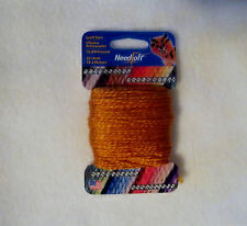 NEEDLOFT CRAFT YARN PUMPKIN #12 for PLASTIC CANVAS by COTTAGE MILLS