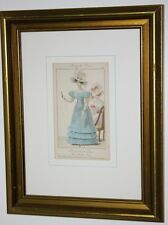 Antique Fashion Print Petit Courrier des Dames Rue Meslée No. 25 Framed [PL1505]