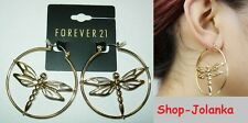 Libellen dragonfly  Klappcreolen Ohrringe hoop earrings Creolen Ohrring