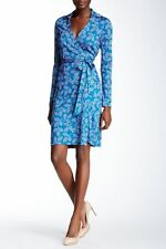 NWT Diane von Furstenberg New Jeanne Two Wrap Silk Dress 8 $398