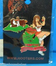 HOOTERS SEXY GIRL CHERRY OF THE CHAIN WITH HOOTIE/OWL TRAVERSE MI MICHIGAN PIN