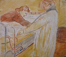 Robert SAVARY (1920-2000) Technique mixte / Nle Ecole de Paris Jeune Peinture