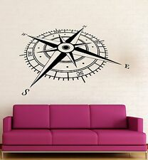 Wall Stickers Vinyl Decal  Compass Coolest Decor For Man Living Room z1578