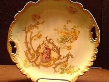 Antique Kittle & Klingenberg Limoges France Cameo Plate with Scalopped Border
