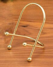 "Brass Easel w/ Little Balls,  Plate or Book Stand, 7"" height"