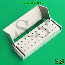 1 Piece 30 Holes Opening Dental Burs Holder Stainless Steel Dental Instruments