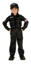 Kids SWAT Police Costume Child Size Large 12-14