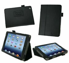 Apple iPad Mini 7 inch Foldable Leather Case , Stylus & Screen Protector - Black
