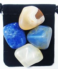 BREAST FEEDING SUPPORT Tumbled Crystal Healing Set =4 Stones +Pouch +Description