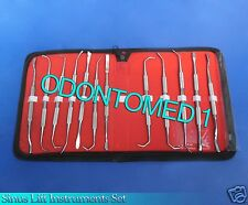 12 Pcs Sinus Lift Instruments Set Implant Dental Dentistry Double Ended