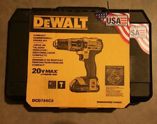 NEW DeWALT 20V MAX Lithium-ion Hammerdrill / Driver Kit DCD785C2 w/Two Batteries