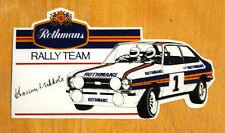 Rothmans Rally Team Escort Mk2 (Hannu Mikkola) Motorsport Sticker Decal