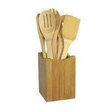 6x/Set Bamboo Utensil Kitchen Wooden Cooking Tools Spoon Spatula Mixing CCC