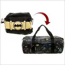 Batman DC Comics Packable Gym Luggage Duffle Travel Bag with Case LICENSED NEW