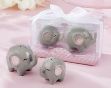 Little Peanut Ceramic Elephant Salt and Pepper Shaker Set Baby Shower Favors