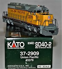 "Kato HO 37-2909 Union Pacific EMD SD40-2 ""Snoot"" #3379 Details Added F/P"